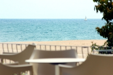 Las vistas al mar desde la terraza del Hotel Rocatel (Canet de Mar)